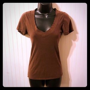 NWOT's! Size Small Brown Wet Seal V-Neck Tee